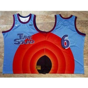 Lebron James Tune Squad Blue Jersey #6
